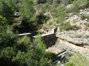 Dique de mampostería hidráulica situado en el barranco de Mingo Andrés.