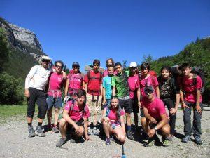 Foto de grupo en el Valle de Ordesa